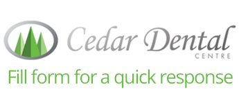Cedar Dental Centre website form